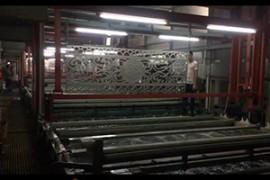 不锈钢屏风、铝屏风水镀工艺的浸水清洗过程
