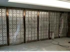 镂空不锈钢活动屏风隔断安装好后实拍图
