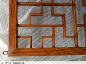中式木纹不锈钢花格屏风,让金属时代回归到自然