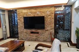 家居不锈钢花格电视墙效果图分享