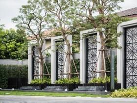 不锈钢庭院屏风_室外景观屏风装饰效果