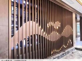 山峦_山水造型不锈钢背景墙效果图欣赏
