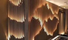 不锈钢山水屏风艺术背景墙图片欣赏