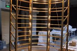 浙江丽水弧形不锈钢酒架设计定制