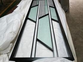 不锈钢花格玻璃隔断定制