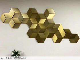 菱形艺术异形不锈钢造型墙面装饰效果图