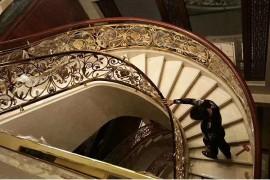 K金铝艺雕刻别墅旋转楼梯图片大全