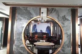 不锈钢造型背景墙效果图