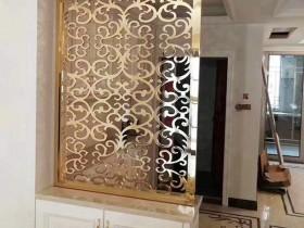 欧式屏风隔断效果图,金属屏风隔断让室内更高端