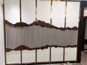 新款玫瑰金不锈钢屏风设计与加工方法
