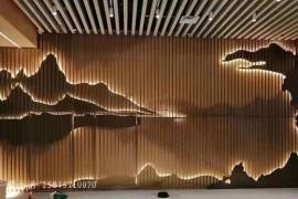 山形不锈钢造型背景墙,层次感鲜明