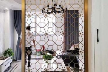 适合安装在玄关柜上的几款不锈钢屏风图片欣赏