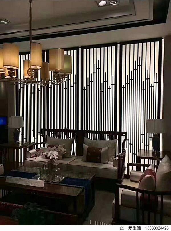 客厅电视背景墙不锈钢屏风