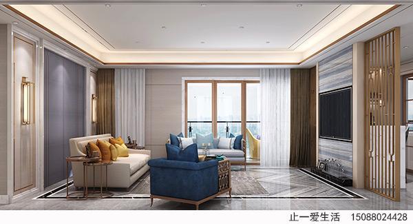 现代简奢欧式电视背景墙不锈钢屏风效果图