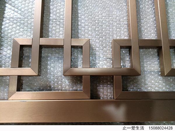拉丝玫瑰金点焊工艺不锈钢屏风工艺细节图片