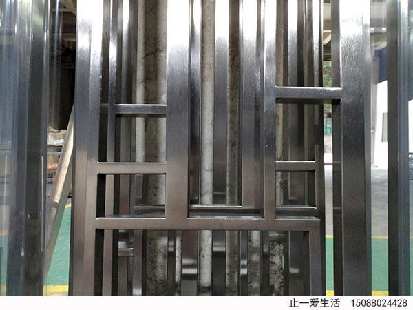 拉丝满焊不锈钢屏风图片