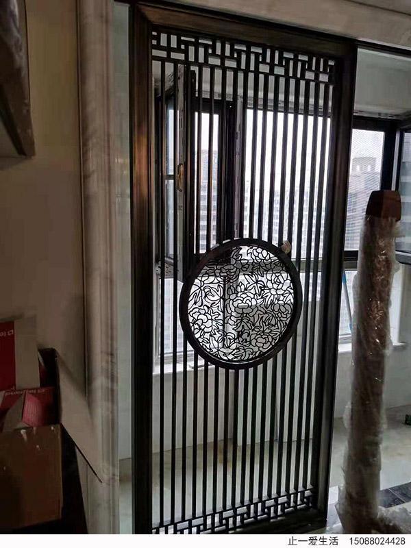 新中式古铜不锈钢屏风