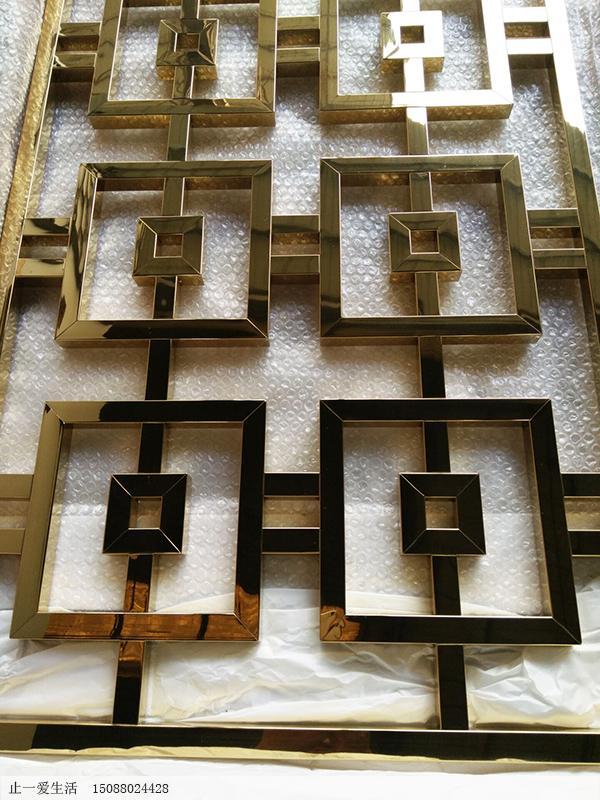 不锈钢屏风镜面点焊工艺节点图(正面图)