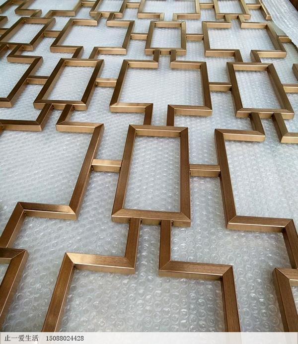 不锈钢屏风拉丝点焊工艺节点图(大面积花格节点图)