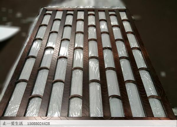 古铜色美式不锈钢屏风成品图片