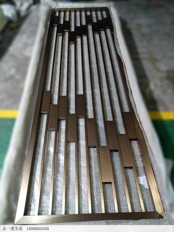 15*20方管内花与40*40方管边框焊接不锈钢屏风成品效果图