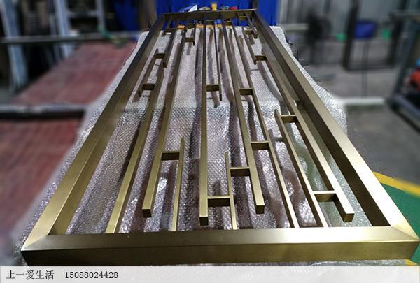 拉丝钛金不锈钢方管焊接屏风