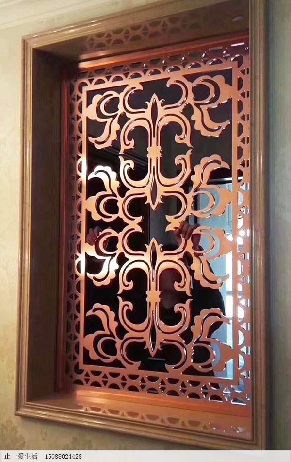 定制别墅镀铜欧式不锈钢屏风