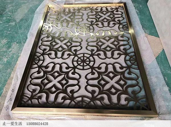 拉丝青古铜欧式不锈钢屏风