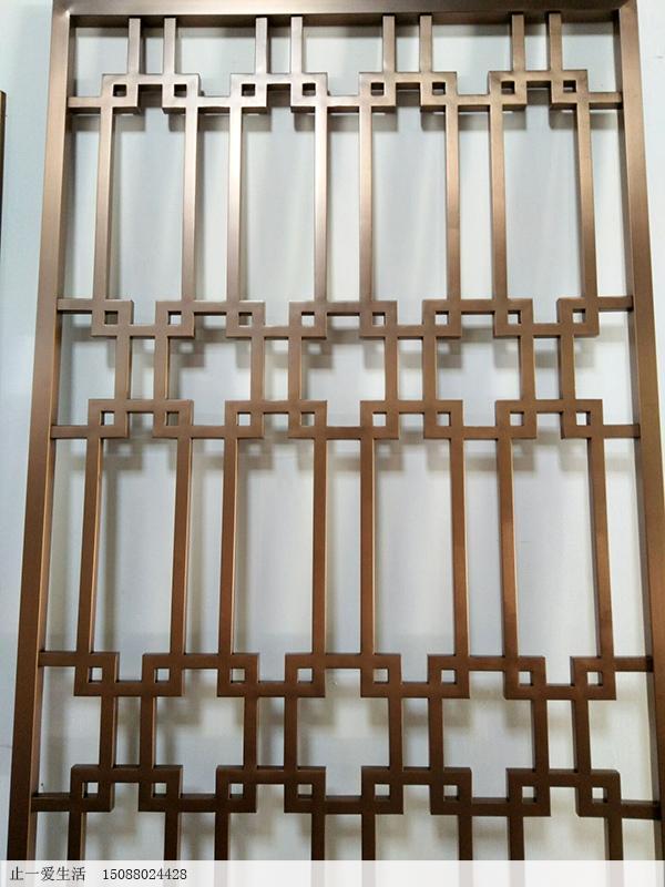 20*20方管加工的满焊西字花格不锈钢屏风