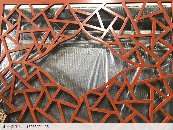 不锈钢木纹屏风