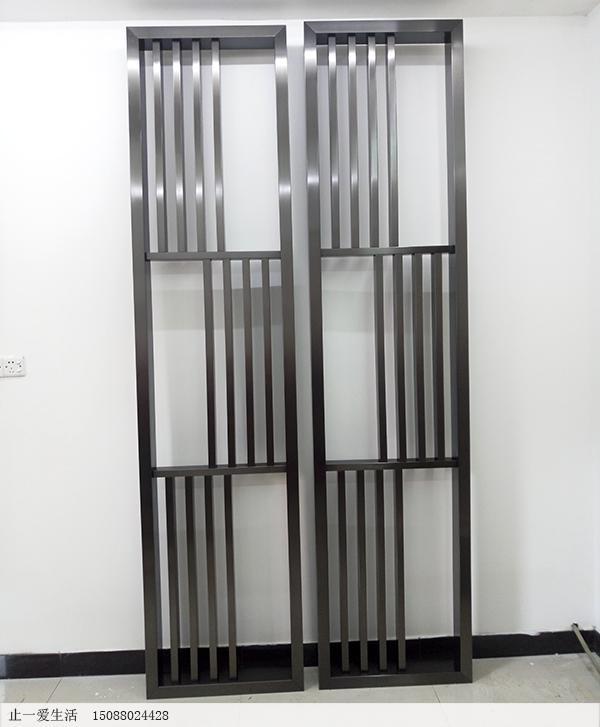 韩式不锈钢镂空屏风定制成品图