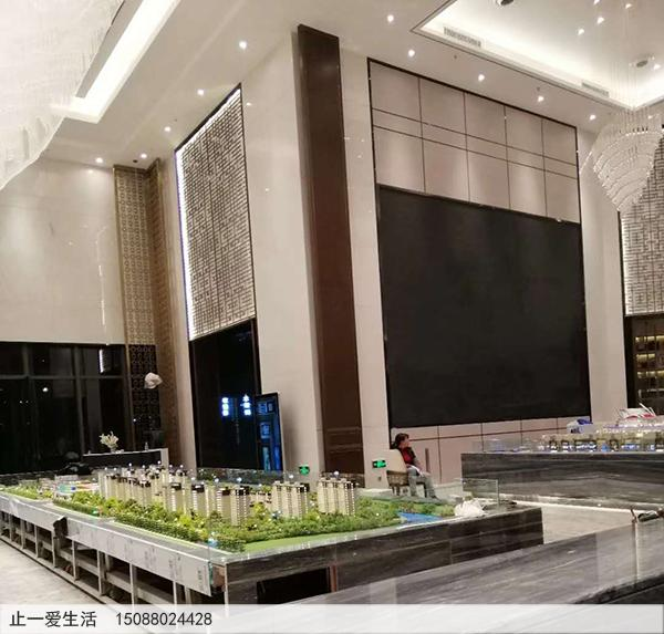 安徽吾悦广场售楼部不锈钢屏风装饰墙效果图