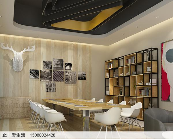不锈钢做的隔断屏风架子-办公会议室靠墙角落摆放效果图