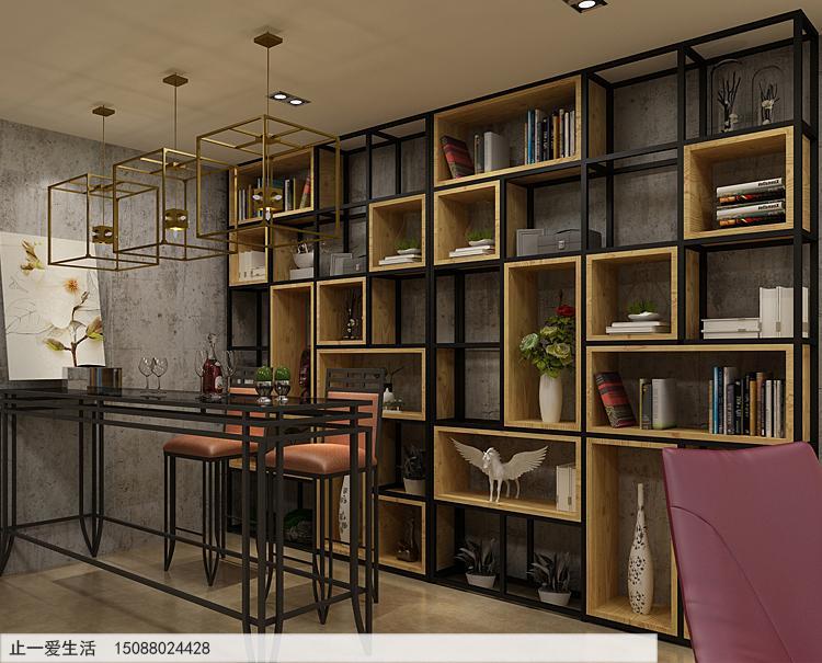 不锈钢做的隔断屏风架子-优雅小餐厅靠墙装饰隔断屏风效果图