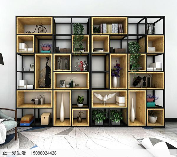 不锈钢做的隔断屏风架子-简约风格客厅墙壁摆放隔断屏风效果图