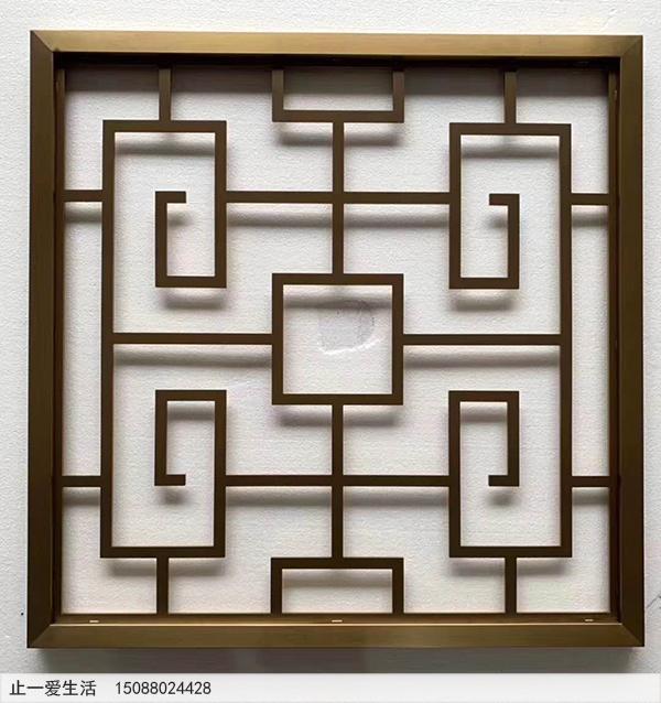 回字形花格屏风,中式经典花格图