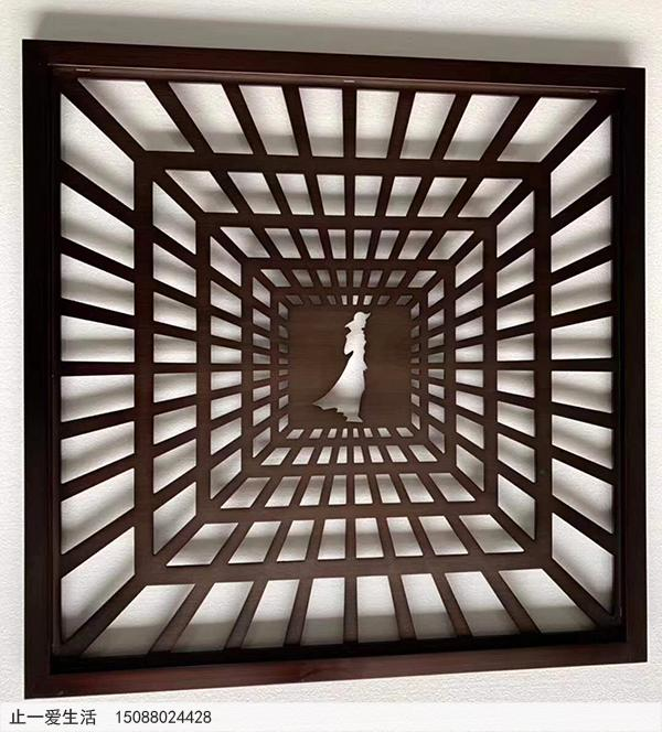不锈钢板激光镂空艺术屏风