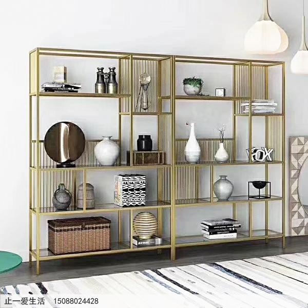 现代风格钛金不锈钢装饰柜