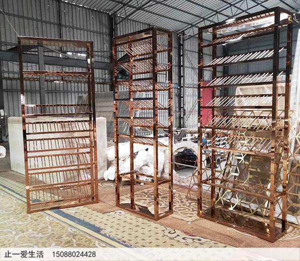 不锈钢装饰红酒柜生产厂家成品图2