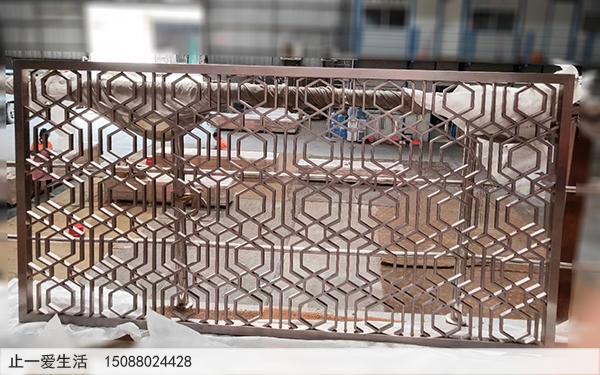 拉丝古铜不锈钢方管满焊焊接花格屏风