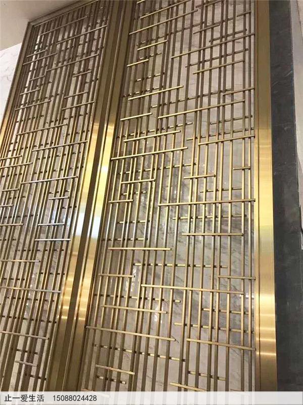 电镀黄铜不锈钢屏风效果