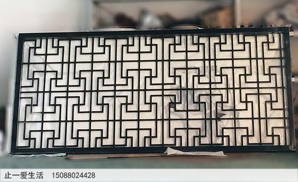 独具中国特色的中式不锈钢屏风——万字花格