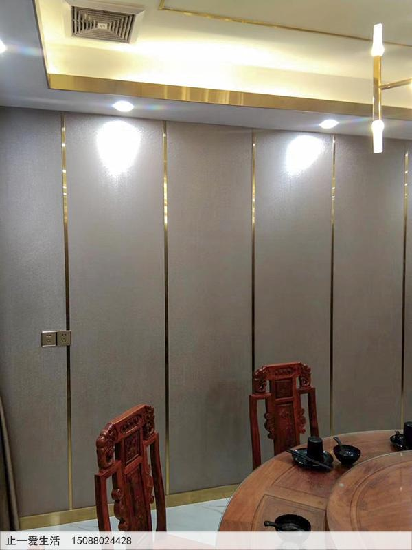 拉丝钛金不锈钢装饰条安装在墙壁与天花吊顶效果图
