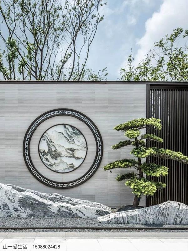 不锈钢庭院屏风_室外景观屏风图片3