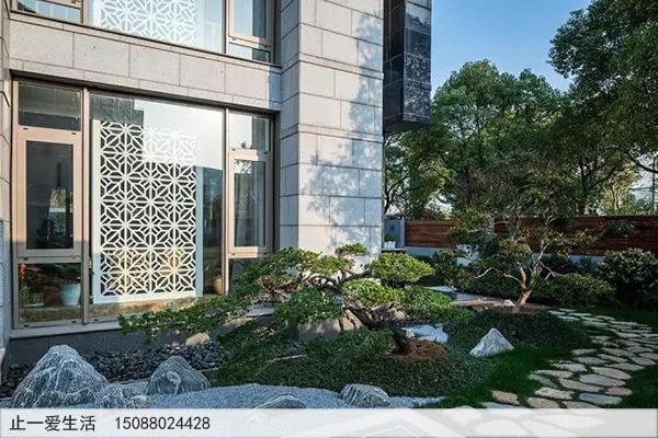 不锈钢庭院屏风_室外景观屏风图片6