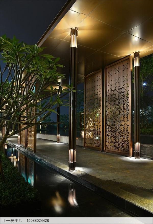 不锈钢庭院屏风_室外景观屏风图片9