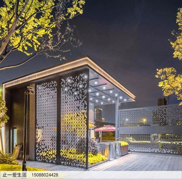 不锈钢庭院屏风_室外景观屏风图片10