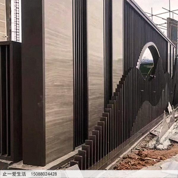 不锈钢庭院屏风_室外景观屏风施工图