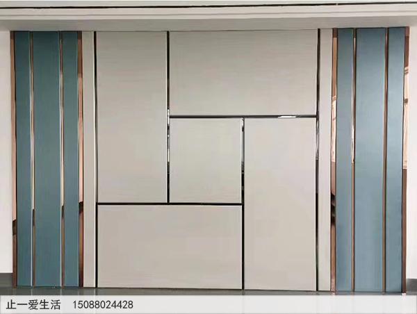 镜面黑钛不锈钢装饰条墙面装饰效果图