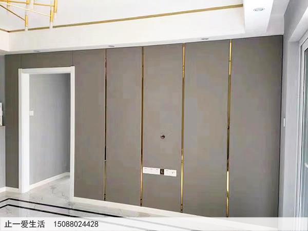 镜面钛金不锈钢装饰条墙面装饰效果图